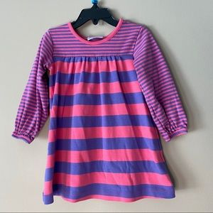 Hanna Andersson Girls long sleeves stripes dress 3